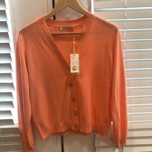 Tory Burch cardigan - color:  coral